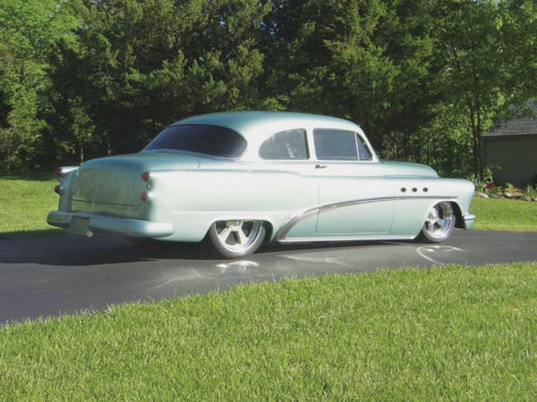 1953 BUICK CUSTOM 2 DOOR HARDTOP - Rear 3/4 - 19897