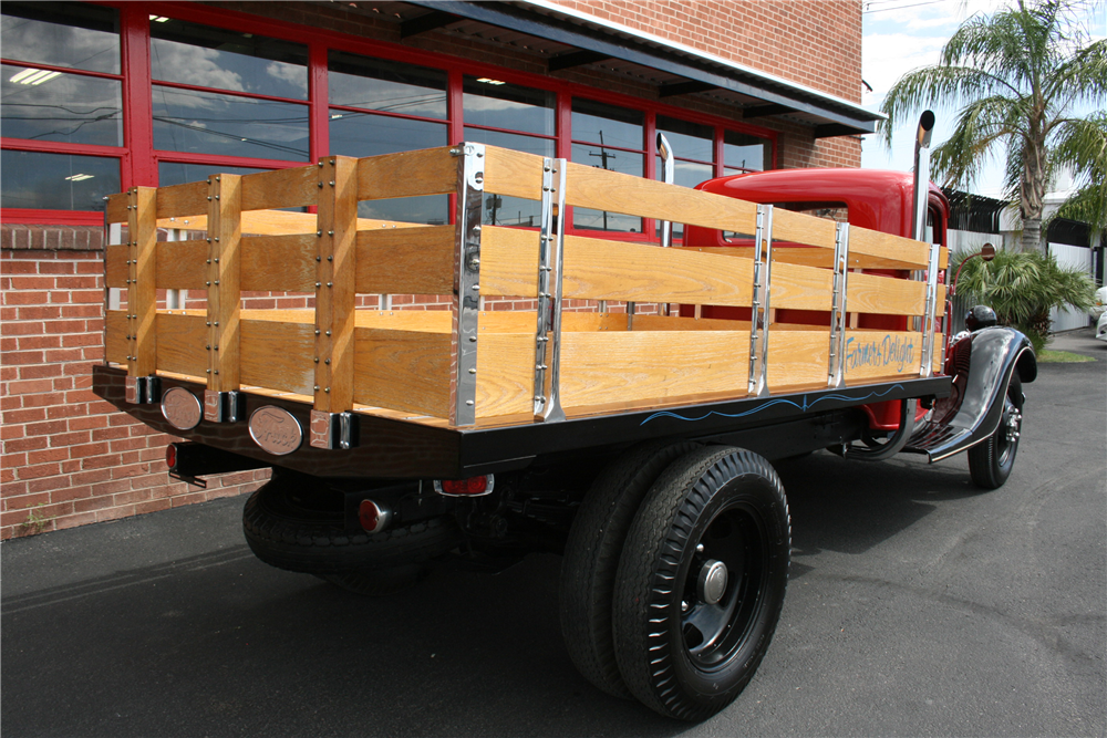1936 ford 1 1 2 ton stake bed truck199227. Black Bedroom Furniture Sets. Home Design Ideas