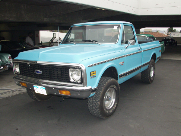 1972 CHEVROLET SHORT BED 4X4 PICKUP - Front 3/4 - 19955