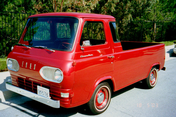 1961 FORD ECONOLINE PICKUP - Front 3/4 - 19958