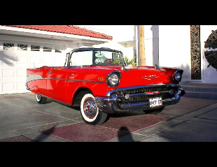 1957 CHEVROLET BEL AIR FI CONVERTIBLE -  - 19961