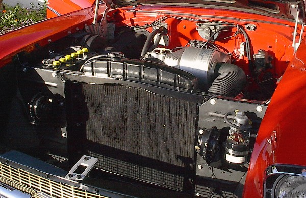 1957 CHEVROLET BEL AIR FI CONVERTIBLE - Engine - 19961