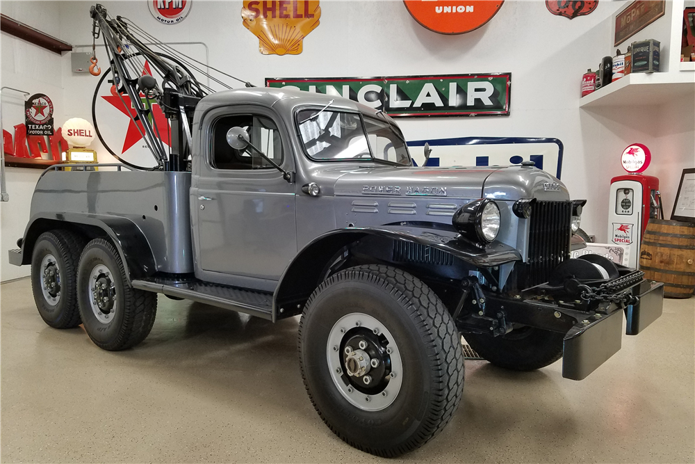 1950 DODGE POWER WAGON CUSTOM TOW TRUCK - Front 3/4 - 199871