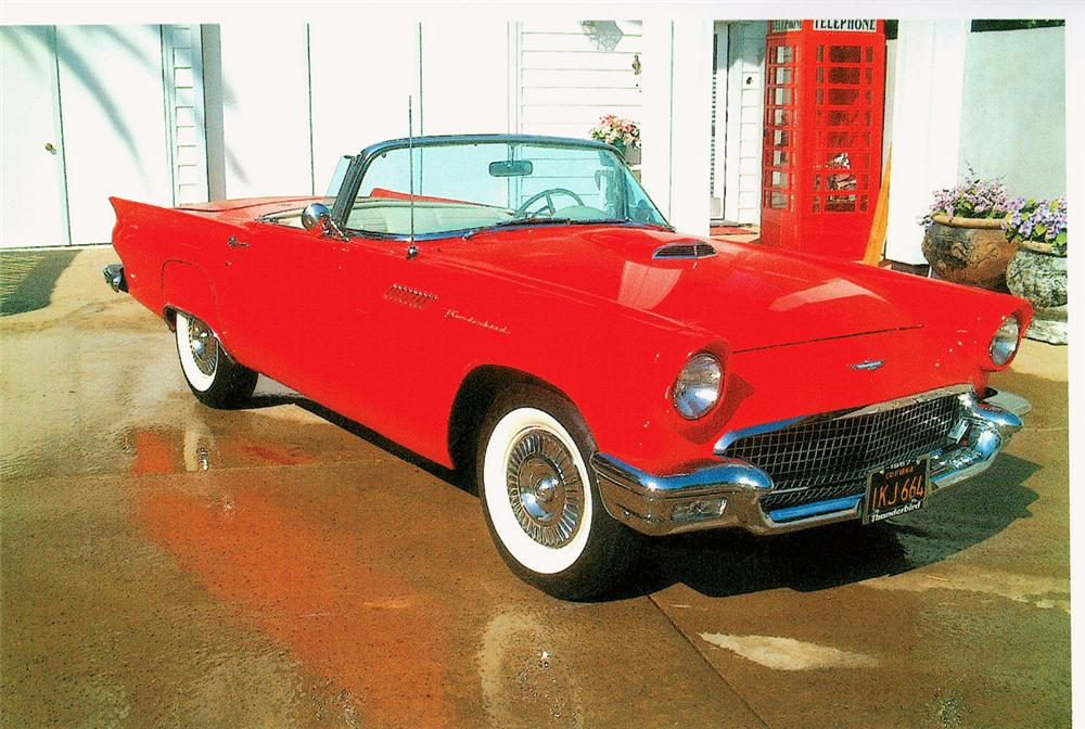 1957 FORD THUNDERBIRD CONVERTIBLE - Front 3/4 - 20007