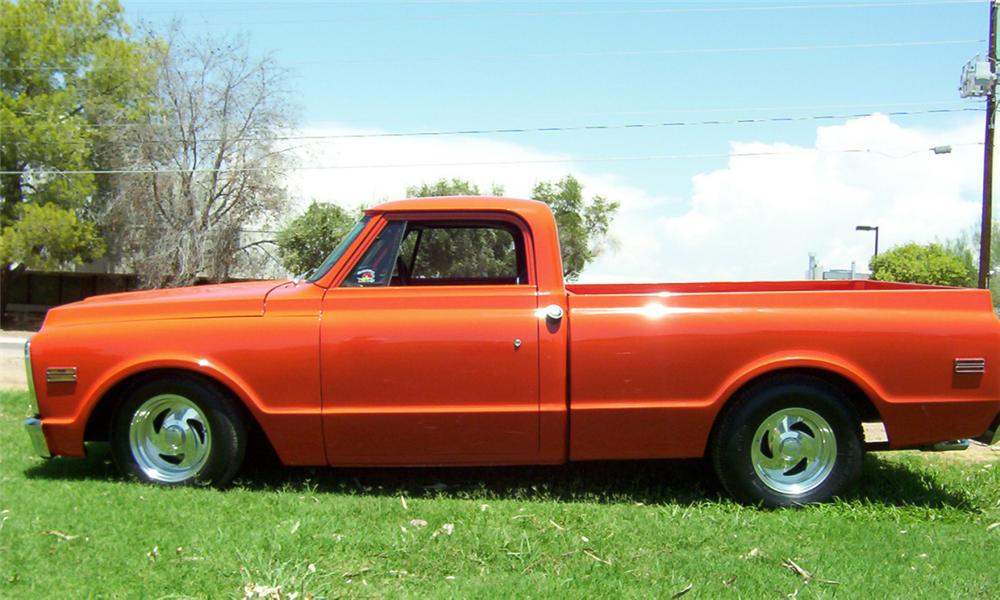1969 CHEVROLET SHORT BED CUSTOM PICKUP - Side Profile - 20023