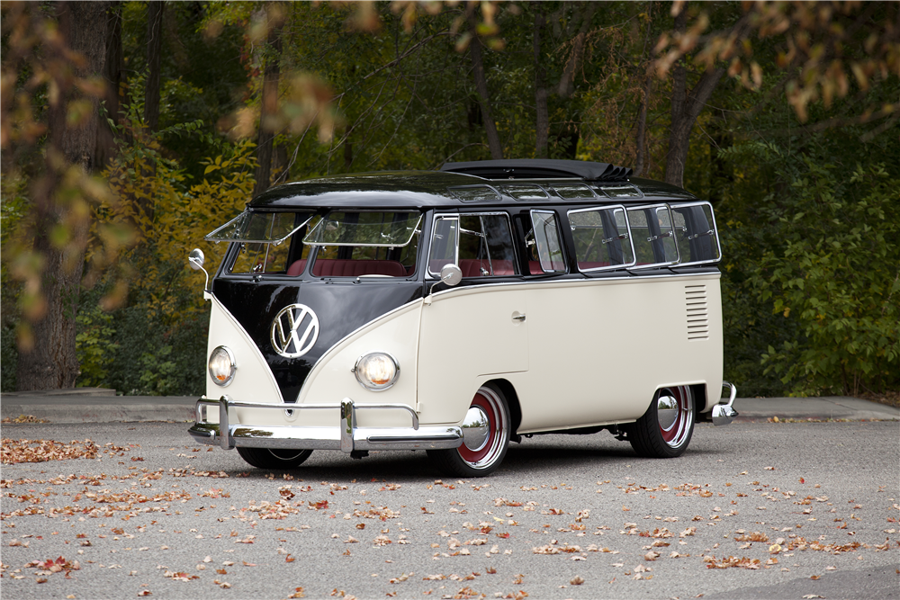 1965 volkswagen type ii 21 window deluxe bus 200656. Black Bedroom Furniture Sets. Home Design Ideas