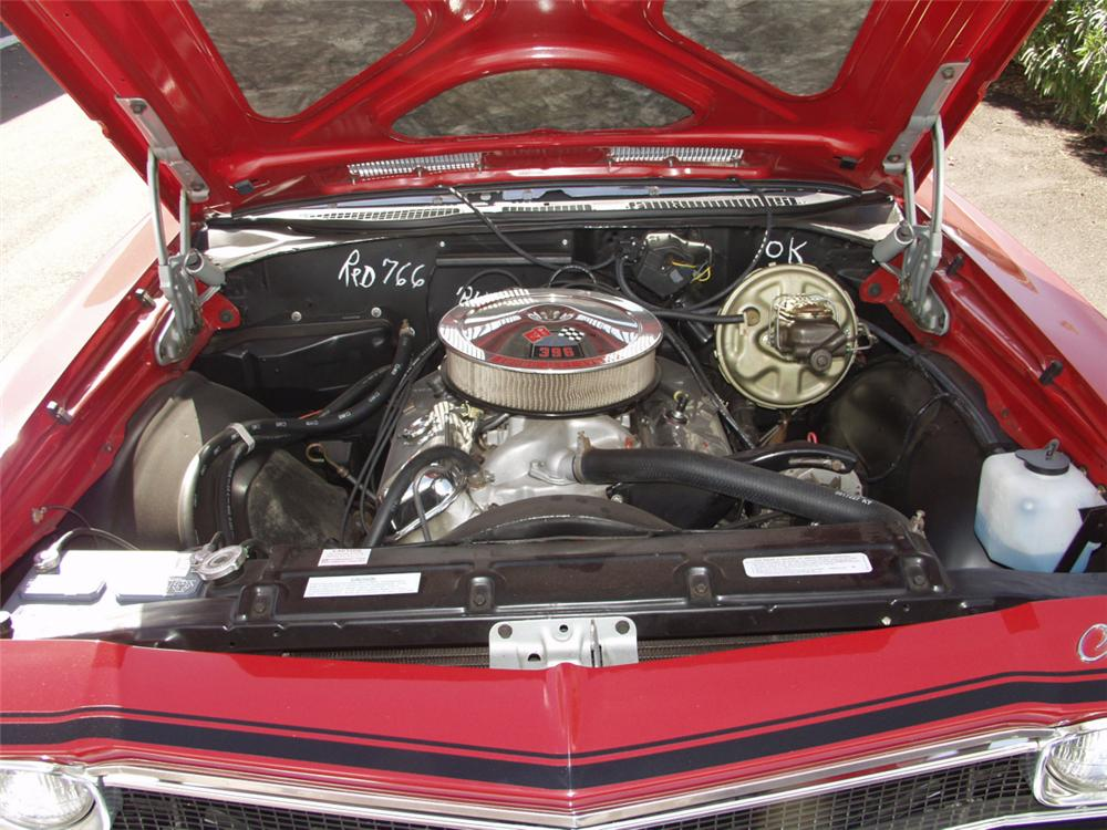 1968 CHEVROLET CHEVELLE SS 396 / L89 CONVERTIBLE - Engine - 20096