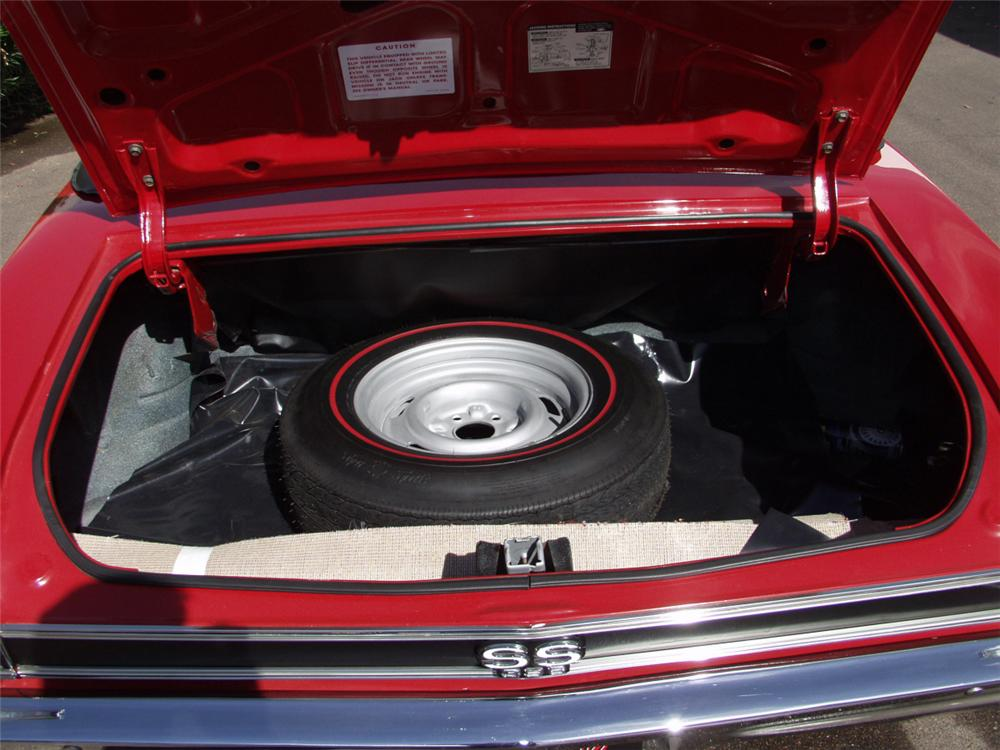 1968 CHEVROLET CHEVELLE SS 396 / L89 CONVERTIBLE - Rear 3/4 - 20096