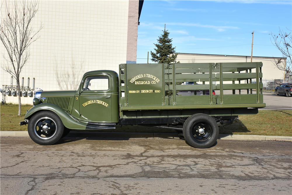 1936 ford 1 1 2 ton stake bed truck 201006. Black Bedroom Furniture Sets. Home Design Ideas