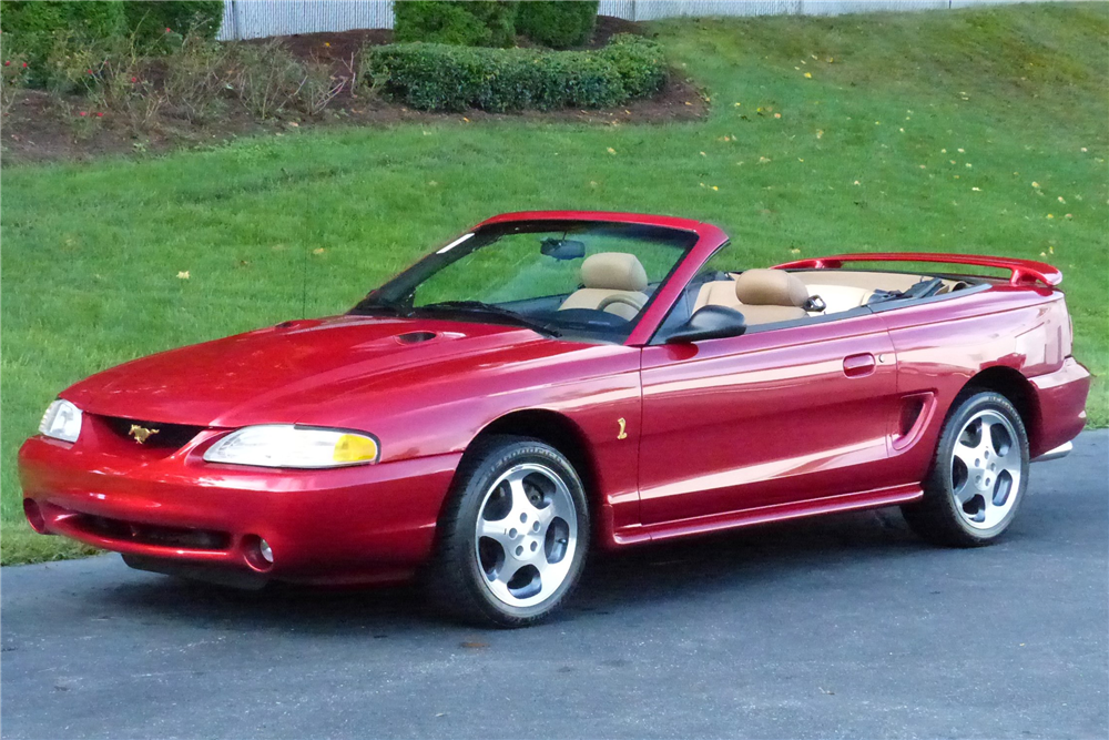Online Car Auction >> 1996 FORD MUSTANG COBRA CONVERTIBLE