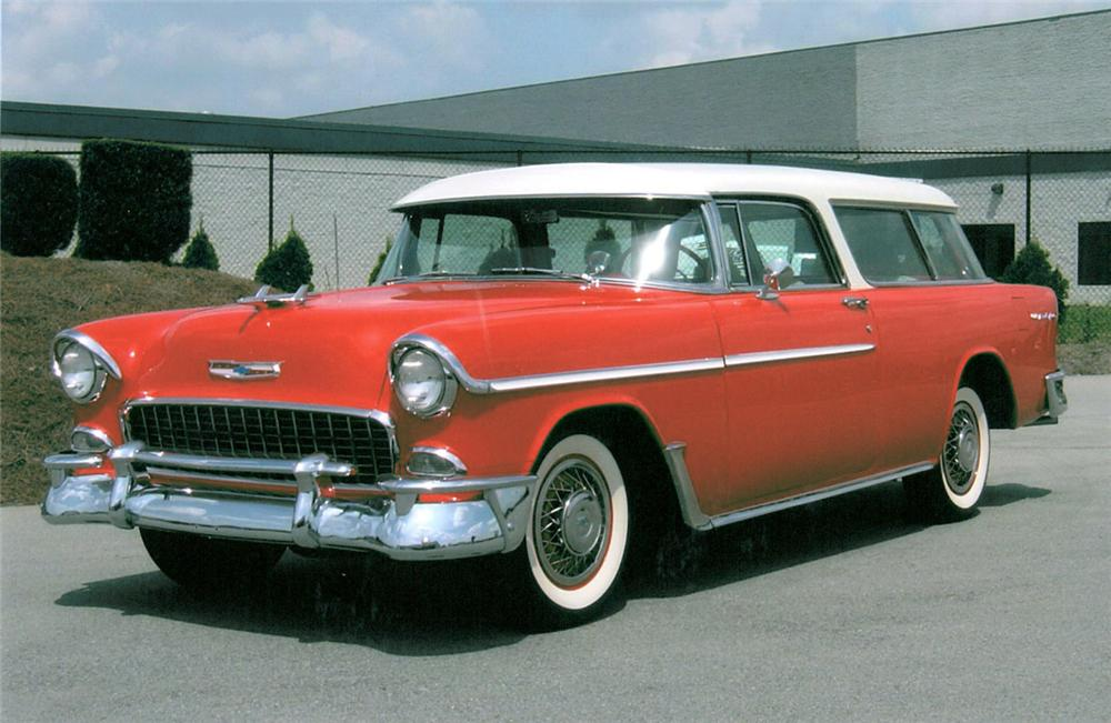 1955 CHEVROLET NOMAD STATION WAGON - Front 3/4 - 20115