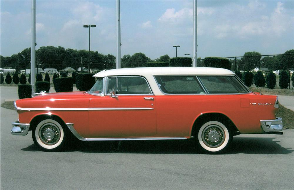 1955 CHEVROLET NOMAD STATION WAGON - Side Profile - 20115