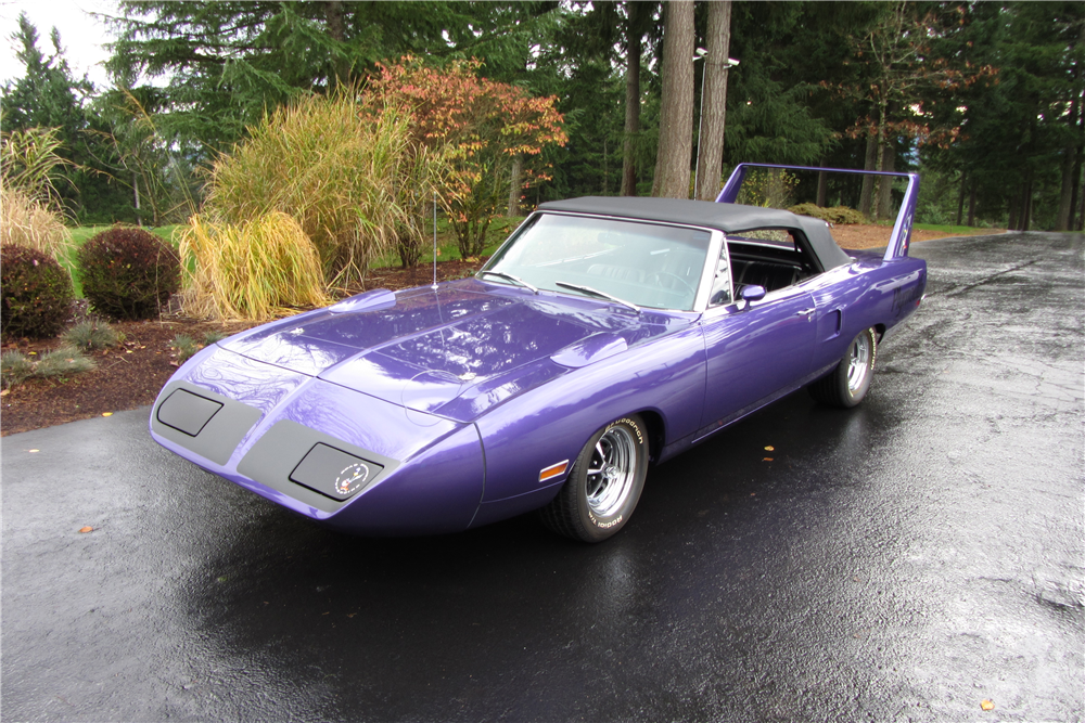 1970 PLYMOUTH SATELLITE CUSTOM CONVERTIBLE - Front 3/4 - 201280