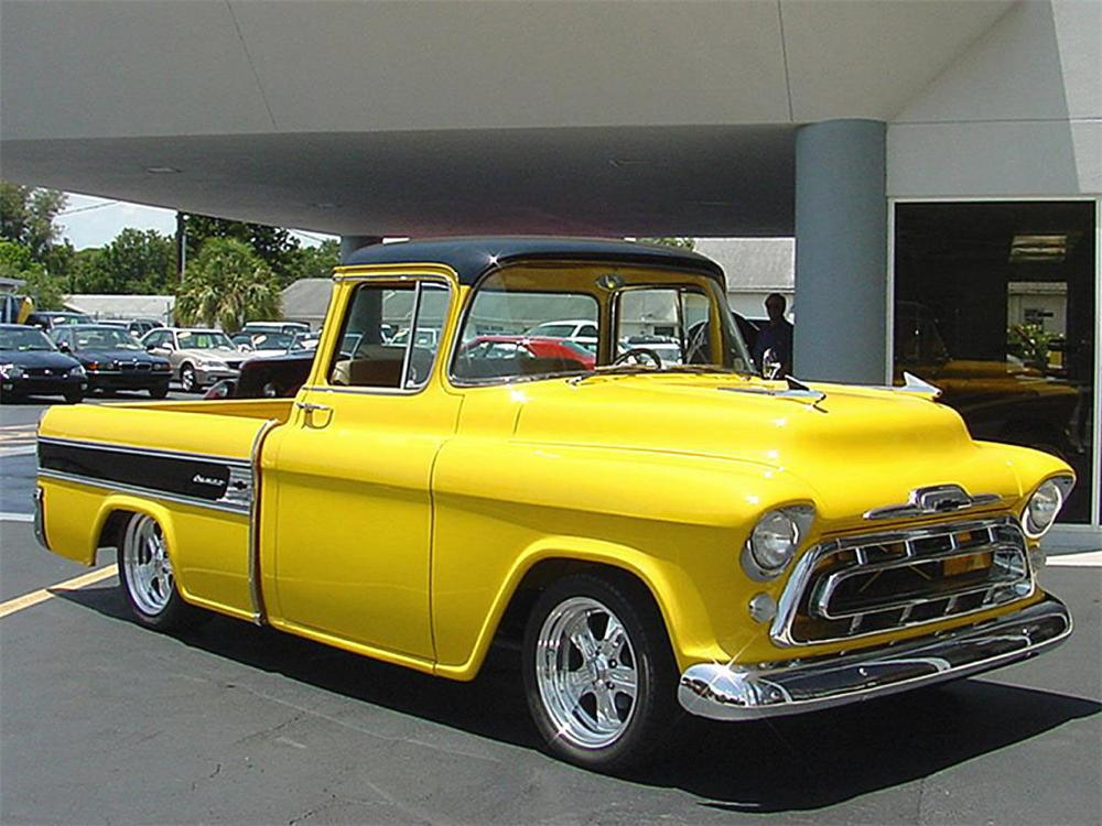 1955 CHEVROLET CAMEO PICKUP - Front 3/4 - 20131