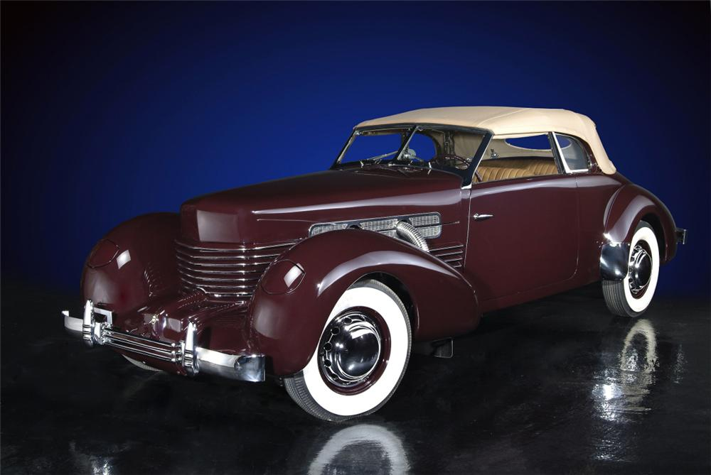 1937 CORD 812 SUPERCHARGED PHAETON - Front 3/4 - 20135