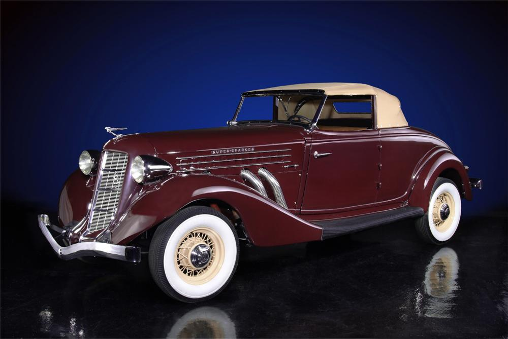 1936 AUBURN 852 SUPERCHARGED CONVERTIBLE - Front 3/4 - 20136