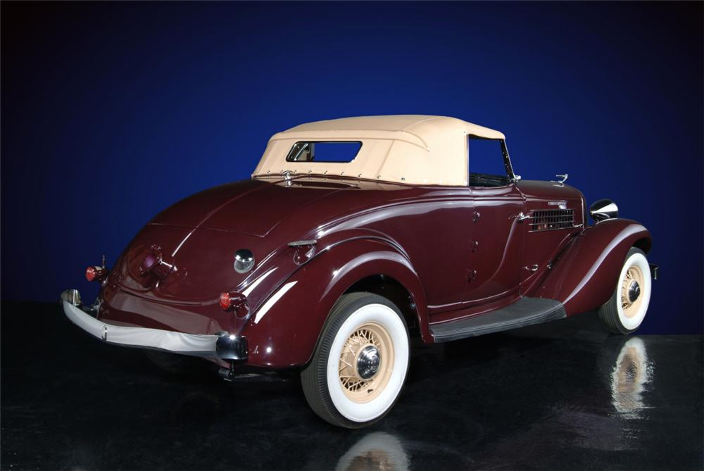 1936 AUBURN 852 SUPERCHARGED CONVERTIBLE - Rear 3/4 - 20136
