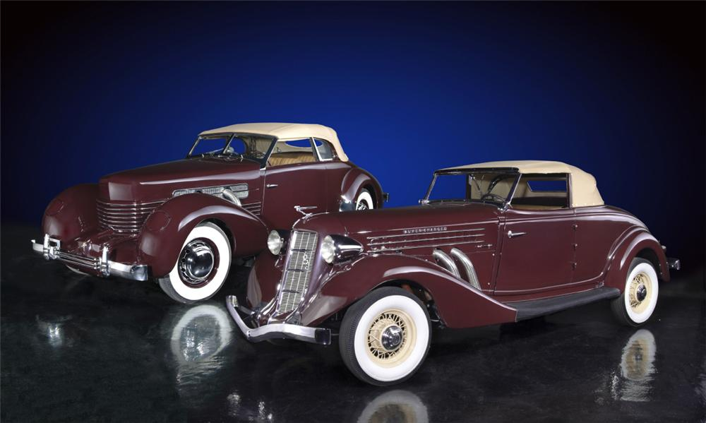1936 AUBURN 852 SUPERCHARGED CONVERTIBLE - Side Profile - 20136