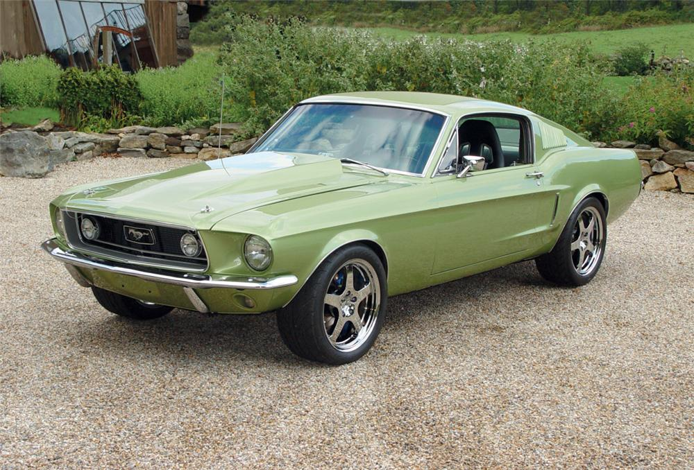 1968 FORD MUSTANG CUSTOM FASTBACK - Front 3/4 - 20145