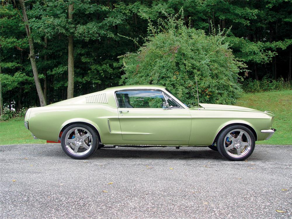 1968 FORD MUSTANG CUSTOM FASTBACK - Side Profile - 20145