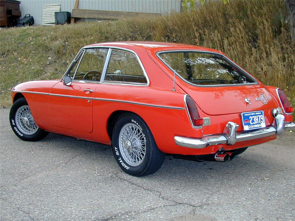 1968 MGB 2 DOOR - Rear 3/4 - 20152