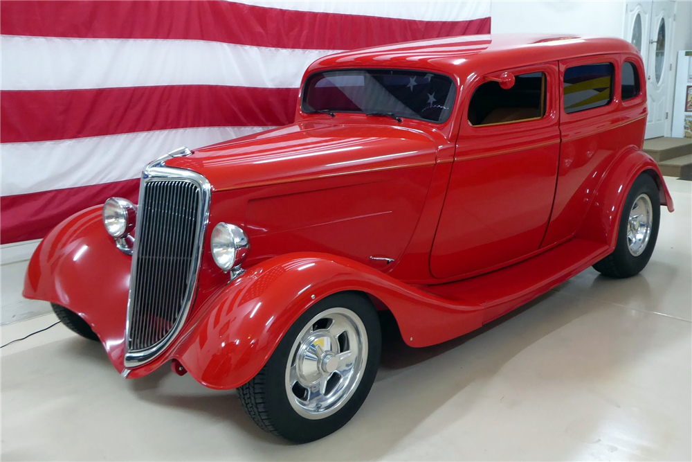 "1934 FORD CUSTOM SEDAN ""EDDIE VAN HALEN'S"" - Front 3/4 - 201524"
