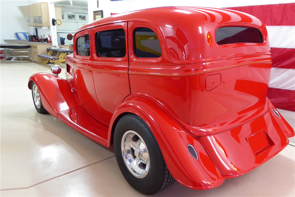 "1934 FORD CUSTOM SEDAN ""EDDIE VAN HALEN'S"" - Rear 3/4 - 201524"