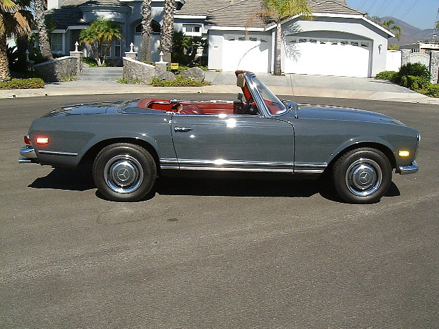 1968 MERCEDES-BENZ 250SL CONVERTIBLE - Side Profile - 20157