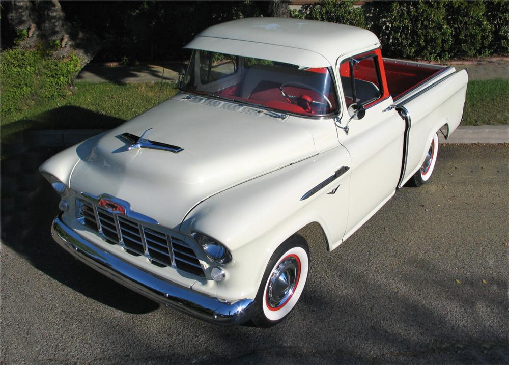 1956 CHEVROLET CAMEO PICKUP - Front 3/4 - 20177