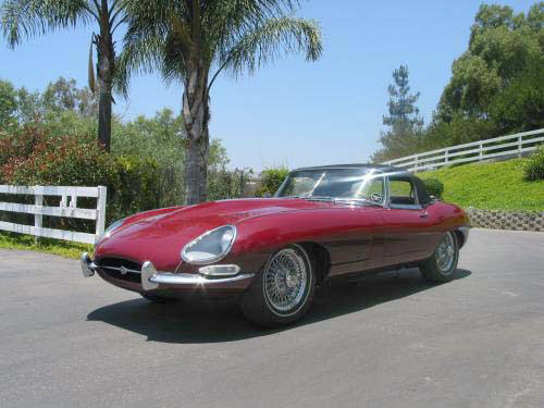 1964 JAGUAR XKE ROADSTER - Side Profile - 20214