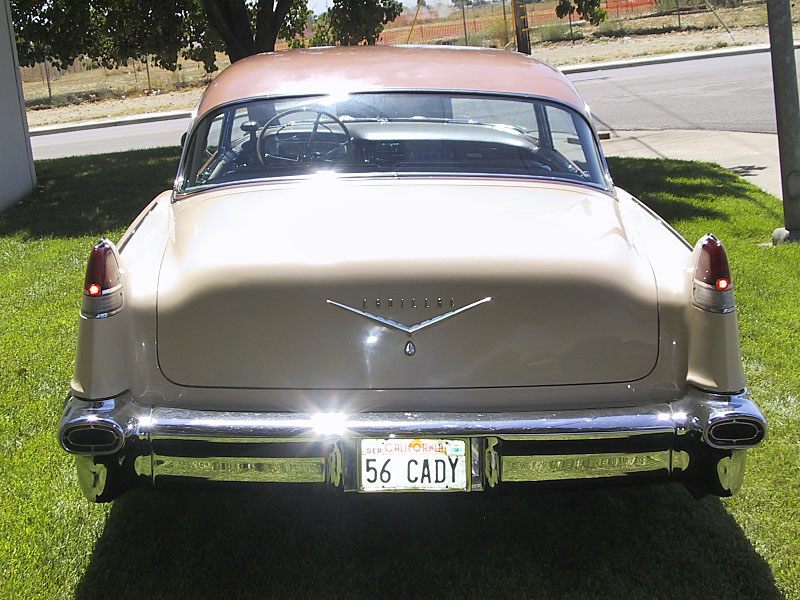 1956 CADILLAC DE VILLE COUPE - Rear 3/4 - 20218