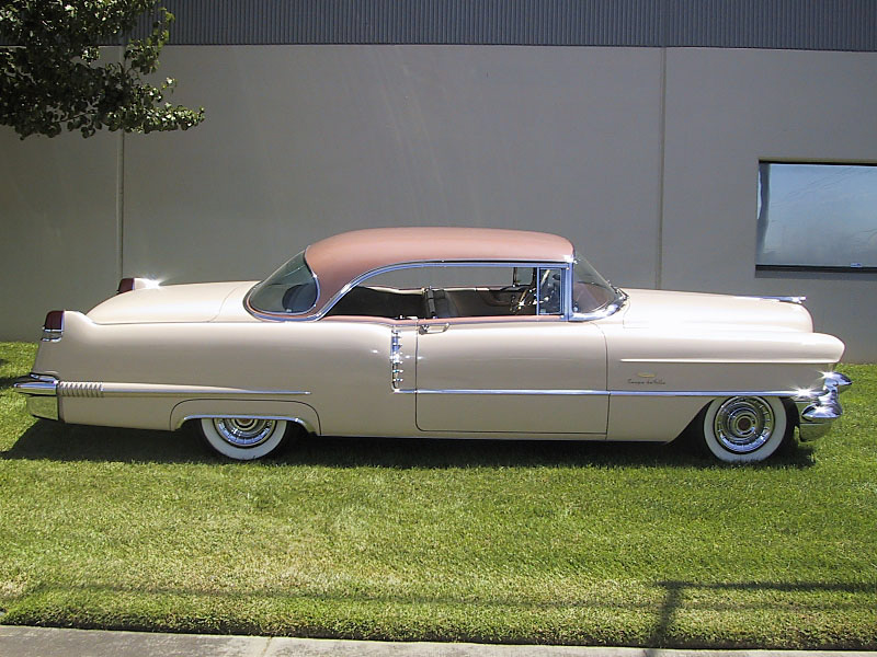 1956 CADILLAC DE VILLE COUPE - Side Profile - 20218