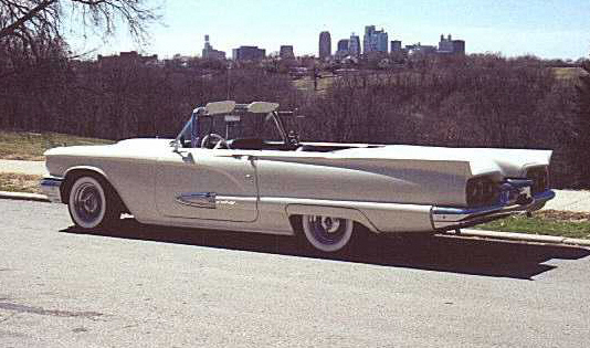 1959 FORD THUNDERBIRD CONVERTIBLE - Side Profile - 20234