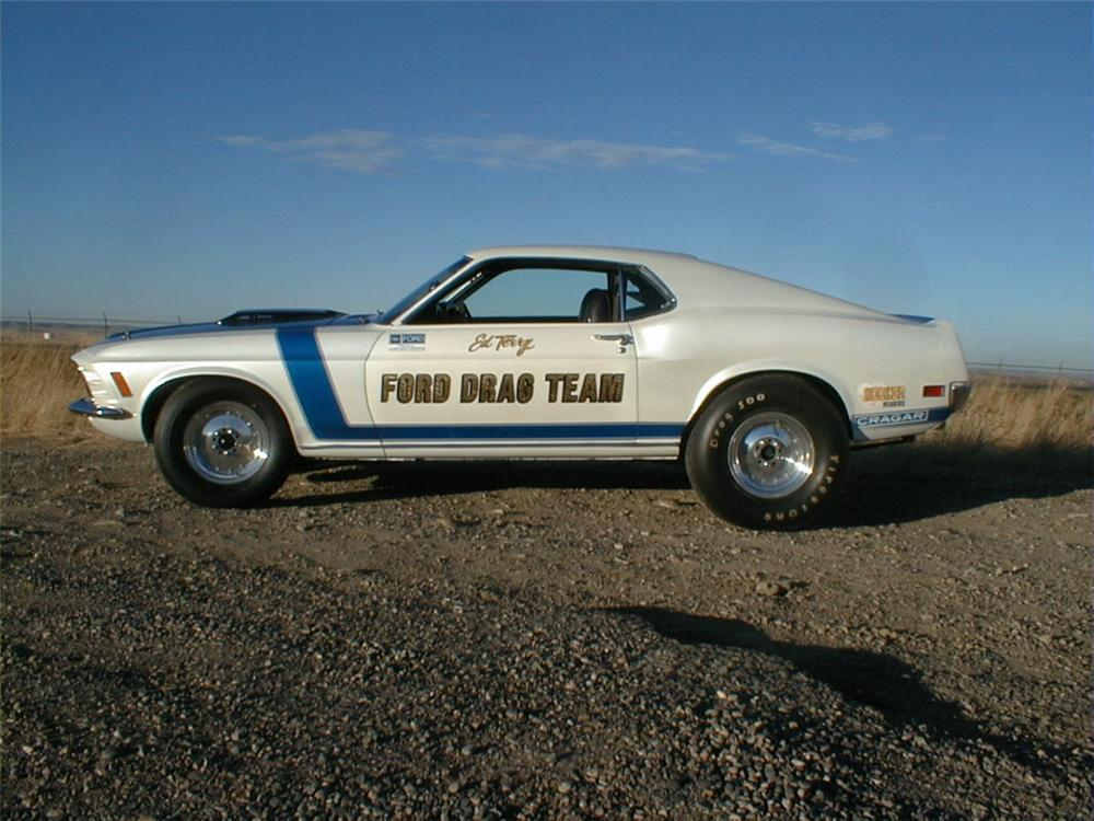 "1969 FORD MUSTANG ""FORD TEAM"" DRAG CAR - Front 3/4 - 20240"