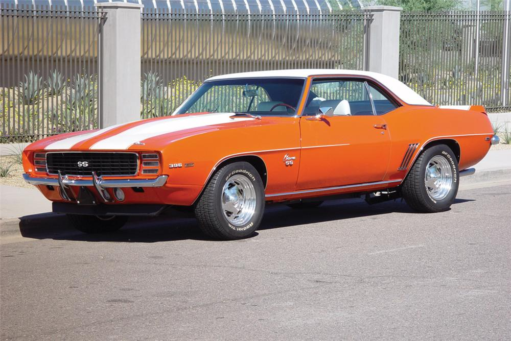 1969 CHEVROLET CAMARO RS/SS COUPE - Front 3/4 - 20246