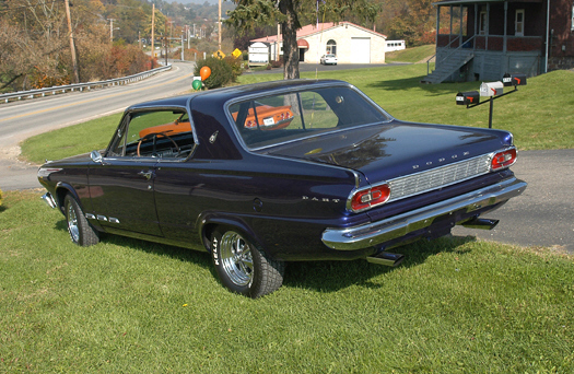 1965 DODGE DART GT 2 DOOR HARDTOP - Rear 3/4 - 20251