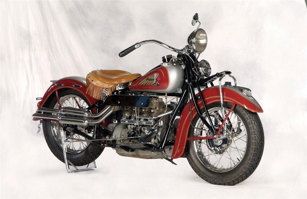 1936 INDIAN 4 CYLINDER MOTORCYCLE - Front 3/4 - 20261