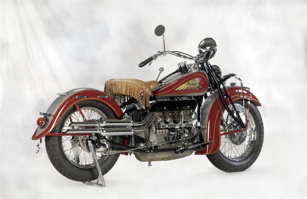1936 INDIAN 4 CYLINDER MOTORCYCLE - Rear 3/4 - 20261