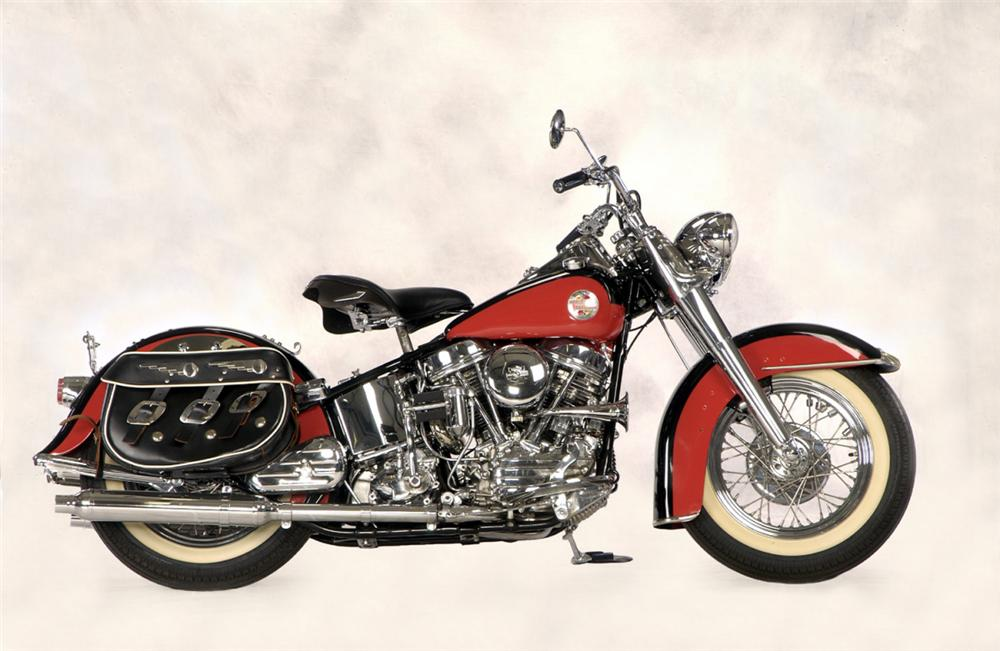 1957 HARLEY-DAVIDSON PANHEAD MOTORCYCLE - Side Profile - 20262