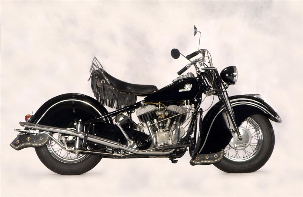 1946 INDIAN CHIEF MOTORCYCLE - Side Profile - 20267