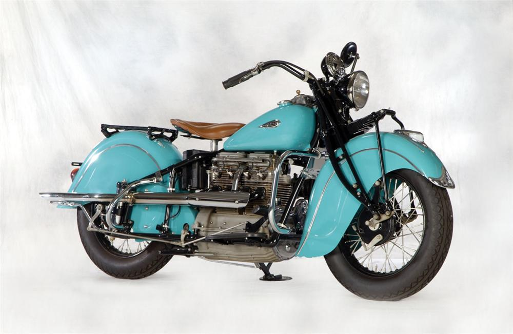1940 INDIAN IN LINE MOTORCYCLE - Front 3/4 - 20268