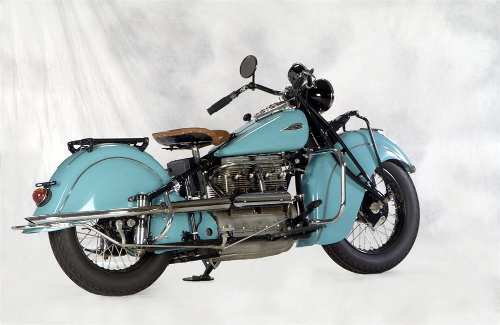 1940 INDIAN IN LINE MOTORCYCLE - Rear 3/4 - 20268