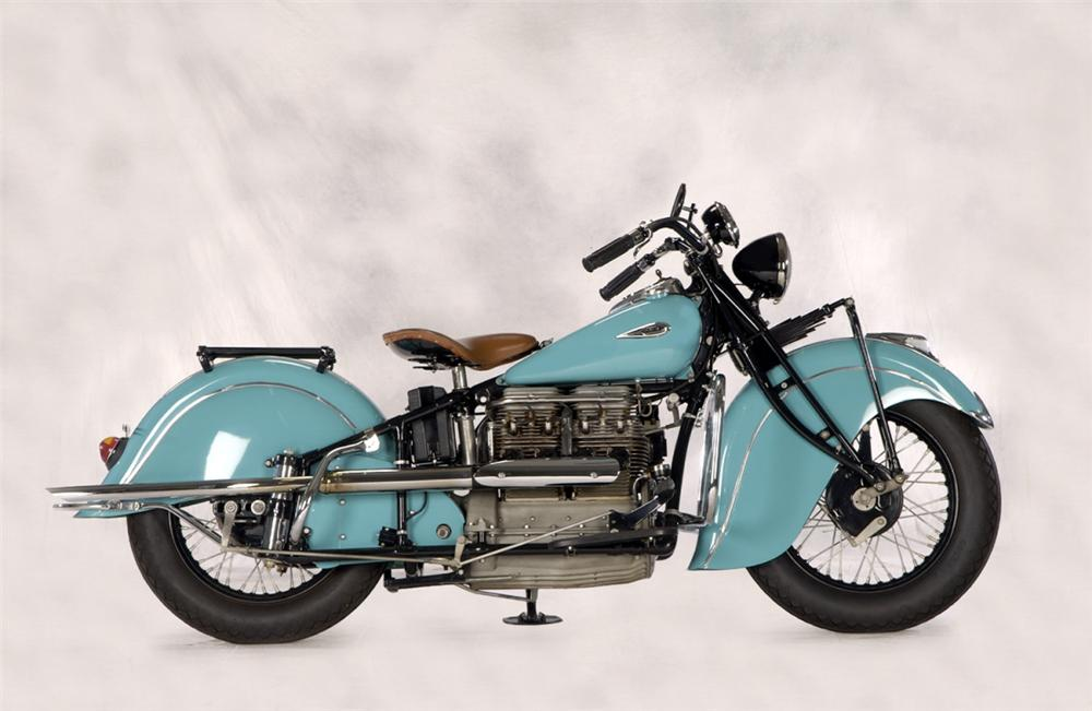 1940 INDIAN IN LINE MOTORCYCLE - Side Profile - 20268
