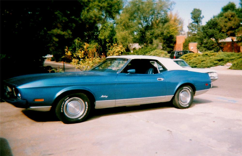 1973 FORD MUSTANG CONVERTIBLE - Front 3/4 - 20277