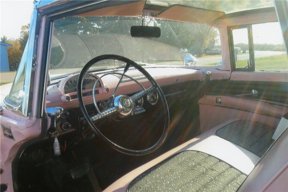 1955 ford victoria crown glass fairlane coupe interior