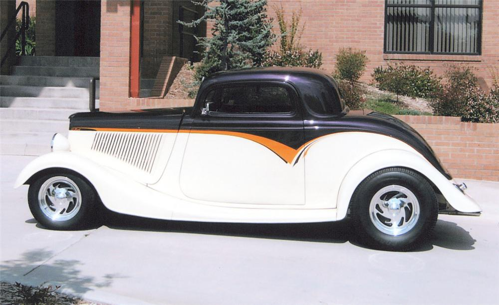 1933 FORD 3 WINDOW COUPE STREET ROD - Side Profile - 20287