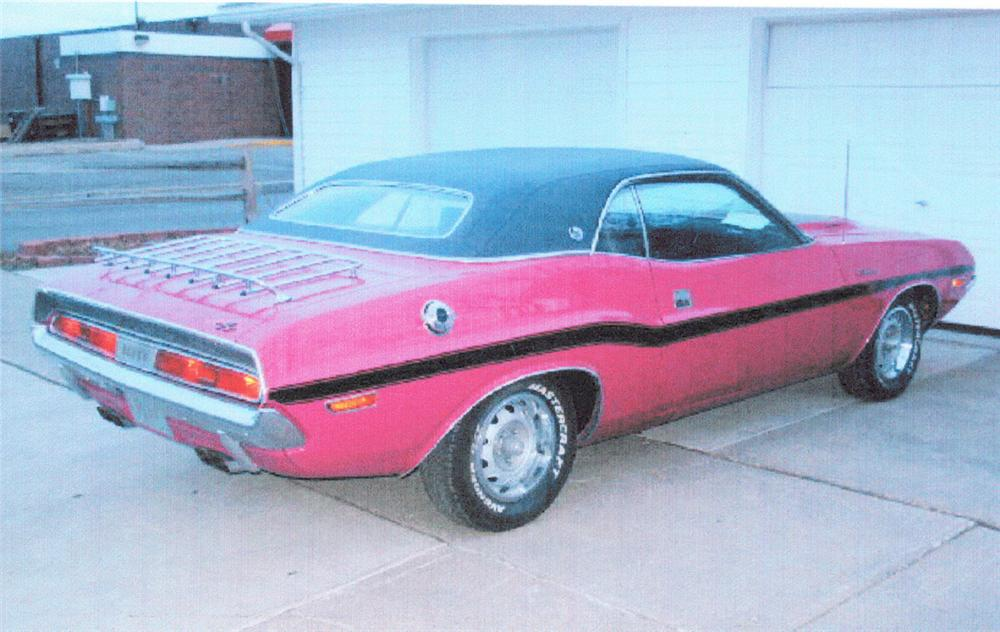 1970 DODGE CHALLENGER R/T SE 2 DOOR HARDTOP - Rear 3/4 - 20294