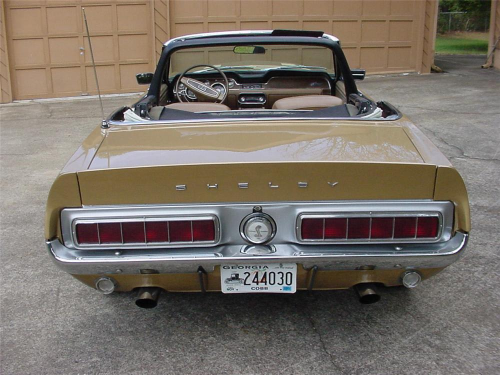 1968 SHELBY GT500 CONVERTIBLE - Rear 3/4 - 20297