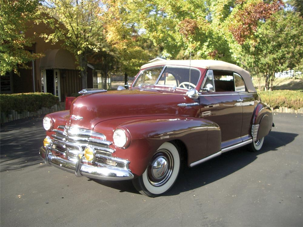 1947 CHEVROLET FLEETMASTER CONVERTIBLE - Front 3/4 - 20312