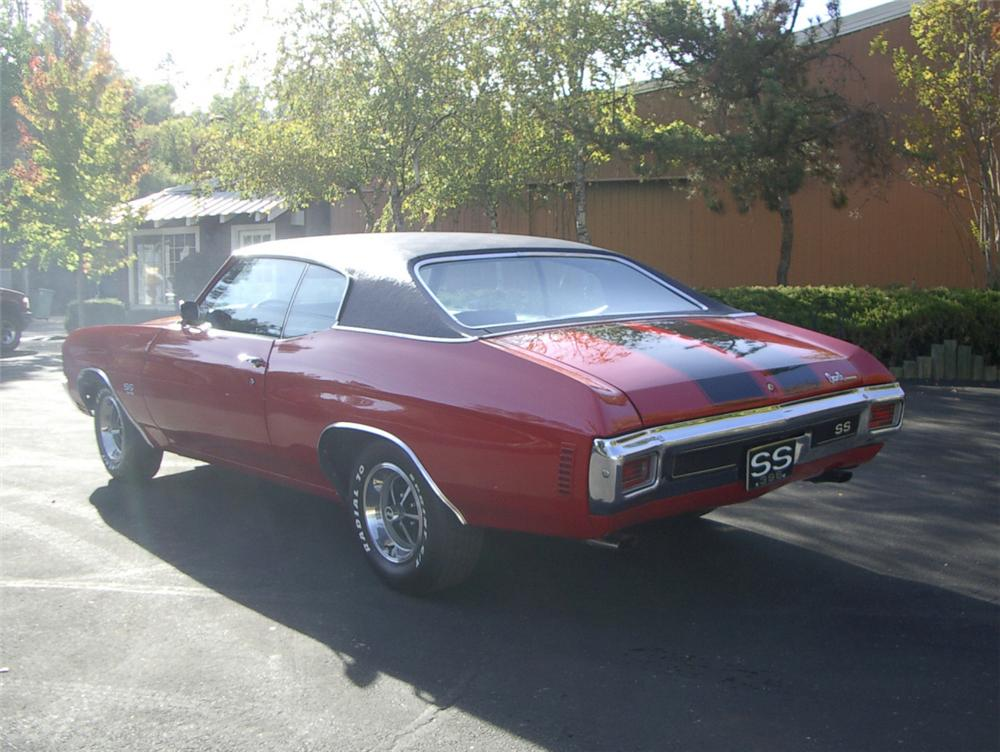 1970 CHEVROLET CHEVELLE SS COUPE - Rear 3/4 - 20313